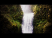 Cinema Mixed Media - Multnomah Falls Cinema Scope by Heather L Giltner
