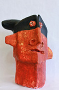 Black Sculpture Metal Prints - MUM no.16 Bandido No. 3 Metal Print by Mark M  Mellon