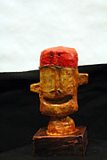 Primitive Art Sculpture Prints - MUM no.5 Print by Mark M  Mellon