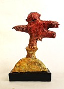 Primitive Art Sculpture Prints - MUM no.8 Print by Mark M  Mellon