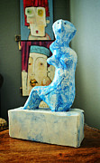 Blue Sculpture Prints - MUM no.9 Print by Mark M  Mellon