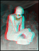 Fiend Framed Prints - Mummy Dearest - Use Red-Cyan filtered 3D glasses Framed Print by Brian Wallace