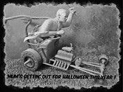 Model Kits Prints - Mummys Going Out For Halloween This Year Print by John Malone