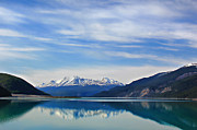 Leslie Kirk Photo Framed Prints - Muncho Lake BC Canada Framed Print by Leslie Kirk