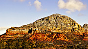 Oak Creek Digital Art Posters - Munds Mountain Sedona Poster by Nadine and Bob Johnston
