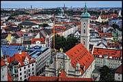 Munich Framed Prints - Munich from the Tower Framed Print by Mary Machare