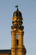 Church Tower Prints - Munich Theatine Church of St. Cajetan - Theatinerkirche St Kajetan Print by Christine Till