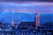 Munich Originals - Munich with Alps Panorama at dawn by M Bleichner