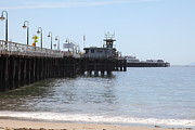 Santa Cruz Pier Prints - Municipal Wharf At The Santa Cruz Beach Boardwalk California 5D23767 Print by Wingsdomain Art and Photography