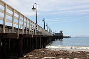 Santa Cruz Pier Prints - Municipal Wharf At The Santa Cruz Beach Boardwalk California 5D23768 Print by Wingsdomain Art and Photography