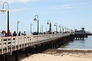 Santa Cruz Pier Prints - Municipal Wharf At The Santa Cruz Beach Boardwalk California 5D23773 Print by Wingsdomain Art and Photography