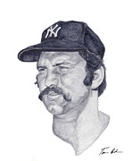 Mlb Painting Prints - Munson Print by Tamir Barkan