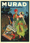 Antique Digital Art Prints - Murad Antique Ad Print by Gary Grayson