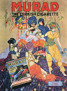 Nineteen-tens Art - Murad Turkish  1910s Usa Egyptian by The Advertising Archives