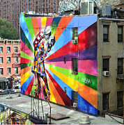 Kobra Framed Prints - Mural by Eduardo Kobra of the V-J Day in Times Square Photo 2 Framed Print by Allen Beatty