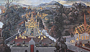 Story Prints - Mural - Grand Palace in Bangkok Thailand - 01132 Print by DC Photographer