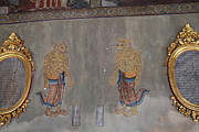 Murals Framed Prints - Mural - Wat Pho - Bangkok Thailand - 01132 Framed Print by DC Photographer