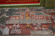 Asia Photo Metal Prints - Mural - Wat Pho - Bangkok Thailand - 01133 Metal Print by DC Photographer