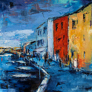 Picturesque Painting Prints - Murano Canal - Venice Print by Elise Palmigiani