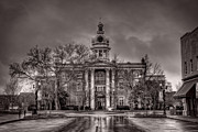 Old Town Digital Art Framed Prints - Murfreesboro Town Hall Framed Print by Brett Engle