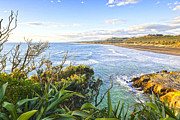 Auckland Framed Prints - Muriwai Beach Auckland Region New Zealand Framed Print by Colin and Linda McKie
