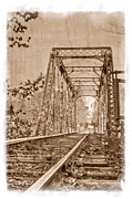 Old Country Roads Framed Prints - Murphy Trestle Framed Print by Debra and Dave Vanderlaan
