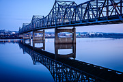 Reflecting Water Posters - Murray Baker Bridge in Peoria Illinois Poster by Paul Velgos