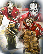 Hockey Net Posters - Murray Bannerman Poster by Mike Oulton