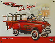 Toy Truck Posters - Murray Fire Truck Poster by Robert Harmon