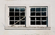 Windowpane Posters - Murrays Mill Windows Poster by Kim Fearheiley