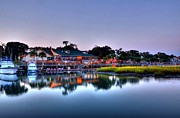 Boardwalks Photo Posters - Murrells Inlet Evening Poster by Mel Steinhauer