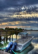 Boat Docks Framed Prints - Murrells Inlet Morning 4 Framed Print by Mel Steinhauer