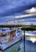 Fishing Creek Framed Prints - Murrells Inlet Morning Framed Print by Mel Steinhauer