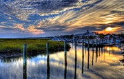 Mel Steinhauer Acrylic Prints - Murrells Inlet Sunset 1 Acrylic Print by Mel Steinhauer
