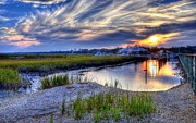 Mel Steinhauer Framed Prints - Murrells Inlet Sunset 4 Framed Print by Mel Steinhauer
