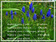 Criticize Art - Muscari and Poem by Barbara Griffin