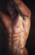 Gay Male Posters - Muscolo Nudo Poster by Tonino Guzzo