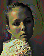 Tradigital Art Prints - Muse 2 Print by Byron Fli Walker