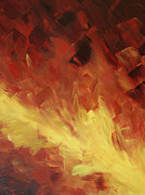 Flame Painting Framed Prints - Muse In The Fire 2 Framed Print by Sharon Cummings