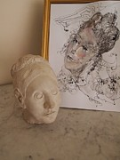 Woman Head Sculpture Prints - Muse Print by Nancy Kane Chapman