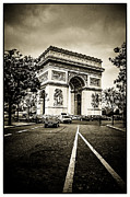 Parisian Streets Posters - Musee de lArc de Triomphe Poster by Lenny Carter