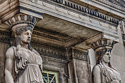 Greek Columns Posters - Museum Caryatids Poster by Mike Burgquist