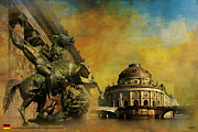 Berlin Germany Painting Posters - Museum Island Poster by Catf
