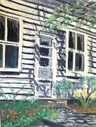 Old House Pastels Prints - Museum on Main St - Ann Arbor Michigan- Plein Air Print by Yoshiko Mishina