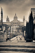 Low Key Photo Prints - Museum Palau Nacional dArt de Catalunya Print by Gabriela Insuratelu