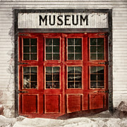 Red Door Posters - Museum Poster by Priska Wettstein
