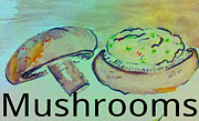 Soup Drawings Framed Prints - Mushrooms Framed Print by Jaime Lopez