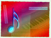 Imac Framed Prints - Music All Around Framed Print by Stephen Lawrence Mitchell