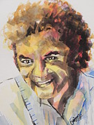 Famous People Painting Originals - Music Artist...Johnny Mathis by Chrisann Ellis