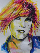 Rock And Roll Painting Originals - Music Artist..Pink by Chrisann Ellis